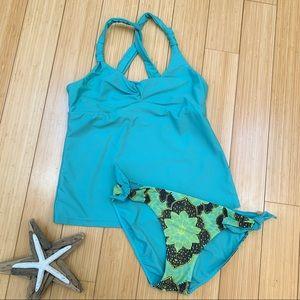 PRANA tankini bathing suit set, M/L.
